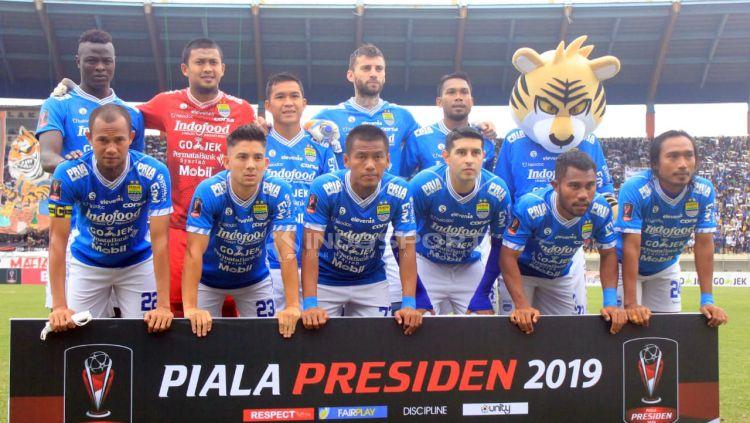 Starting eleven Persib Bandung menghadapi Persebaya. Copyright: © Arif Rahman/Indosport.com