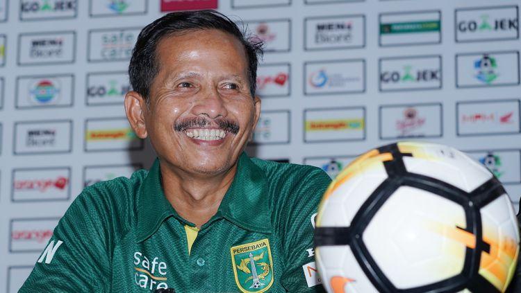 Pelatih Persebaya Surabaya, Djajang Nurdjaman. Copyright: © persebaya.id