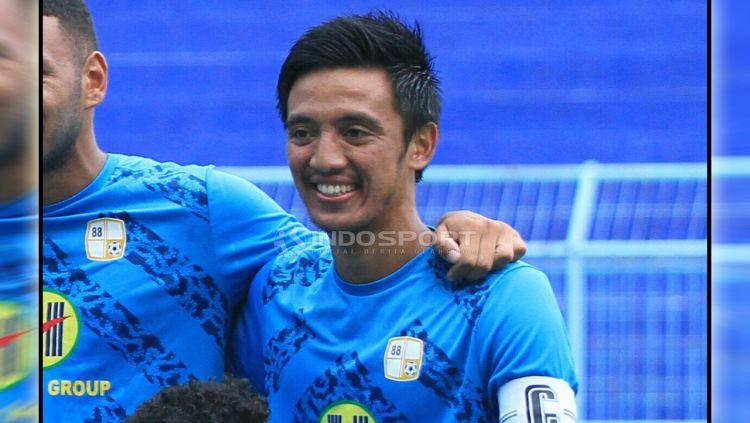 Bayu Pradana menunjukkan jiwa besarnya dalam menyikapi pemanggilan tim nasional. Copyright: © Ian Setiawan/Indosport.com