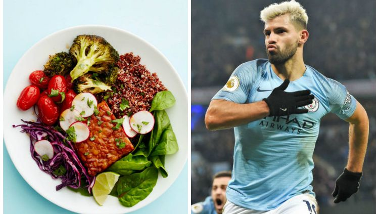 Sergio Aguero merupakan salah satu dari sederet pesepak bola top dunia yang menerapkan pola makan Vegan. Copyright: © INDOSPORT