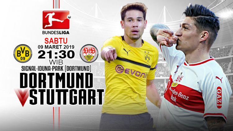 Pertandingan Borussia Dortmund vs VfB Stuttgart. Copyright: © Indosport.com