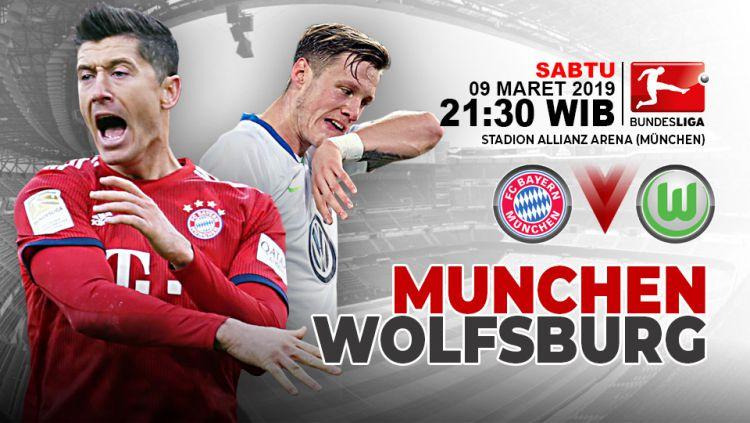 Pertandingan Bayern Munchen vs Wolfsburg. Copyright: © Indosport.com