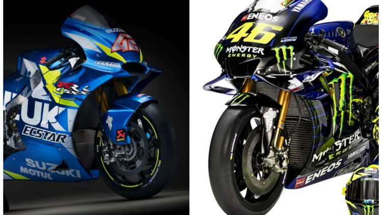 Motor Suzuki dan Yamaha. Copyright: © Suzuki