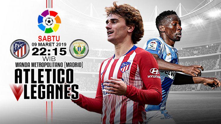 Pertandingan Atletico Madrid vs Leganes. Copyright: © Indosport.com