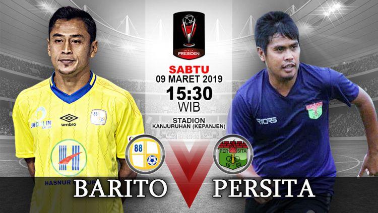 Pertandingan Barito Putera vs Persita Tangerang. Copyright: © Indosport.com