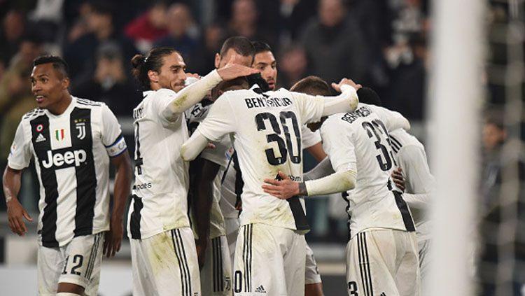Selebrasi Para Pemain Juventus. Copyright: © INDOSPORT