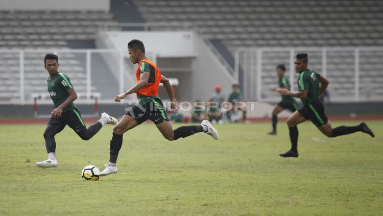 Suasana internal game pemain Timnas Indonesia U-23. Copyright: © Herry Ibrahim/INDOSPORT