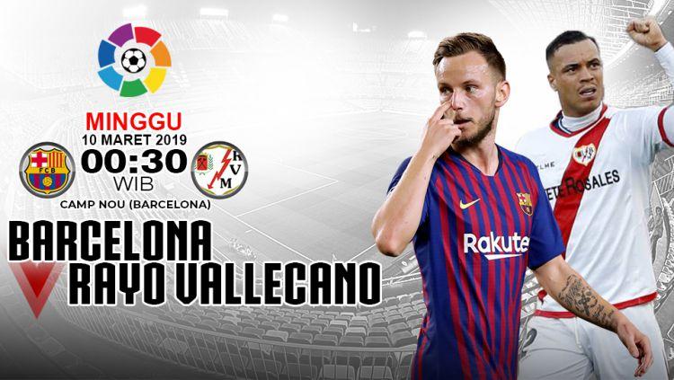 Pertandingan Barcelona vs Rayo Vallecano Copyright: © INDOSPORT/Yooan Rizky Syahputra