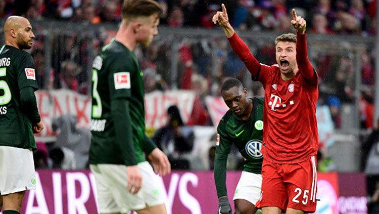 Pemain Bayern Munche, Thomas Muller. Copyright: © INDOSPORT