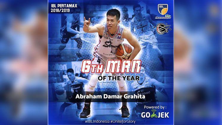 Small forward Stapac Jakarta, Abraham Damar Grahita raih penghargaan sebagai super-subs terbaik. Copyright: © Instagram IBL Indonesia.