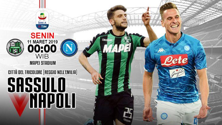 Prediksi pertandingan Sassuolo vs Napoli Copyright: © INDOSPORT/Yooan Rizky Syahputra