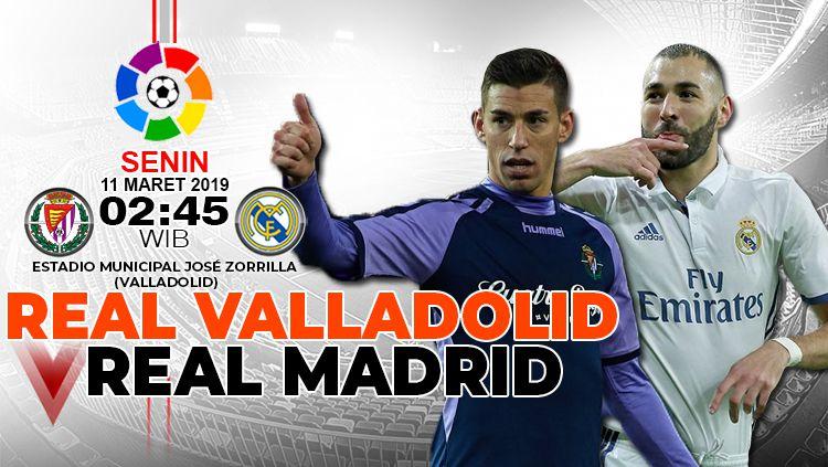 Prediksi pertandingan Real Valladolid vs Real Madrid Copyright: © INDOSPORT/Yooan Rizky Syahputra