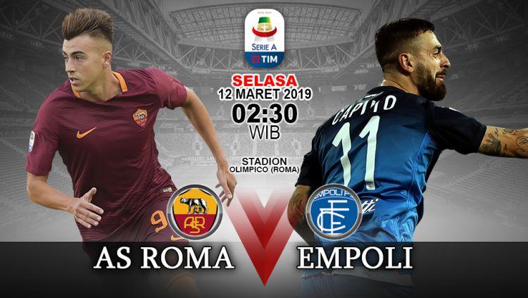Pertandingan AS Roma vs Empoli Copyright: © INDOSPORT/Yooan Rizky Syahputra