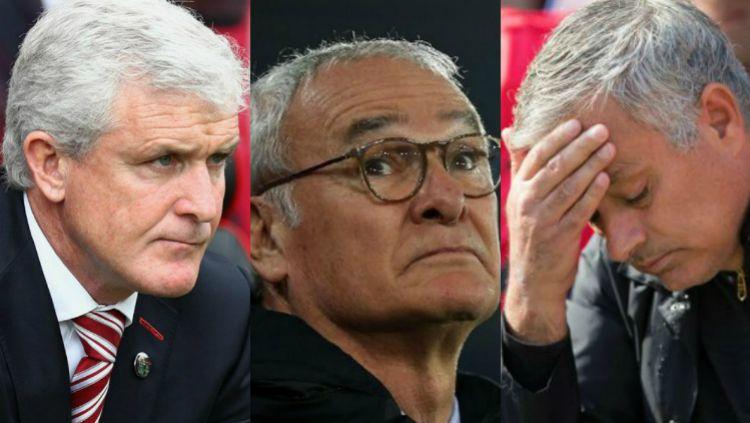 5 Pelatih yang sudah dipecat di Liga Primer Inggris musim 2018/19, termasuk Jose Mourinho. Copyright: © INDOSPORT