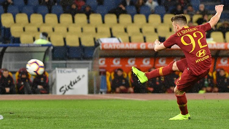 Stephan El Shaarawy mencetak gol bagi AS Roma. Copyright: © Getty Images