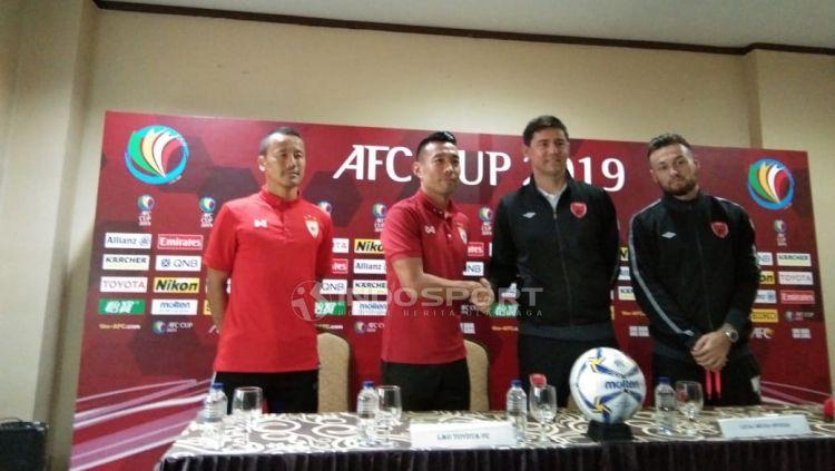 Konfrensi pers jelang laga PSM Makassar vs Lao Toyota FC. Copyright: © Zainal Hasan/Indosport.com