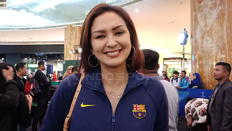 Donna Agnesia, salah satu aktris yang menggemari sepak bola Copyright: © Shintya Anya Maharani/INDOSPORT