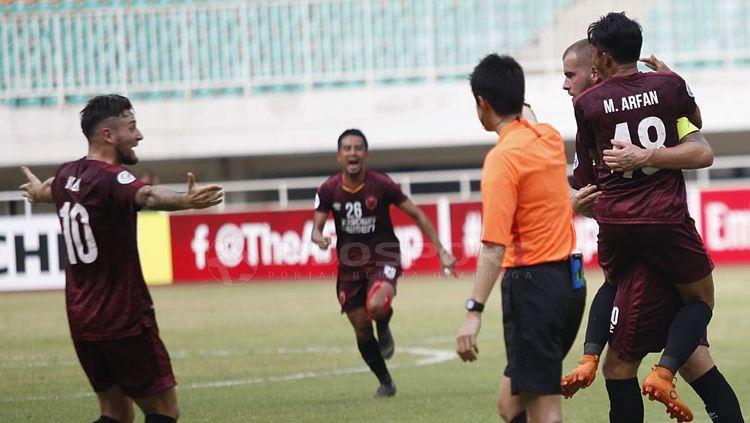 PSM Makassar berhasil melibas Lao Toyota FC dengan skor 7-3 di penyisihan Grup H Piala AFC 2019. Copyright: © Herry Ibrahim/INDOSPORT