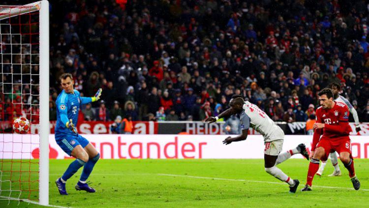 Gol Sadio Mane di Bayern Munchen vs Liverpool Copyright: © INDOSPORT