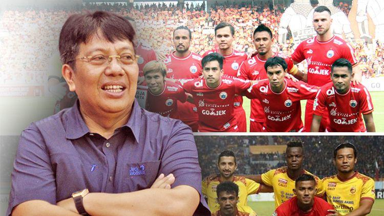 Gede Widiade bakal jadi investor Sriwijaya FC. Berapa harga pasar Sriwijaya dibanding dengan Persija. Copyright: © INDOSPORT