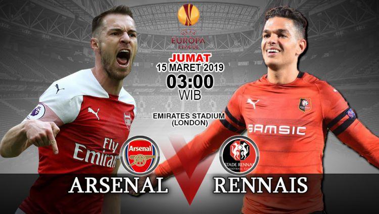 Prediksi pertandingan Arsenal vs Stade Rennais Copyright: © INDOSPORT/Yooan Rizky Syahputra
