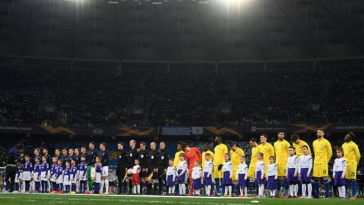 Suasana jelang kick off Dynamo Kiev vs Chelsea. Copyright: © INDOSPORT