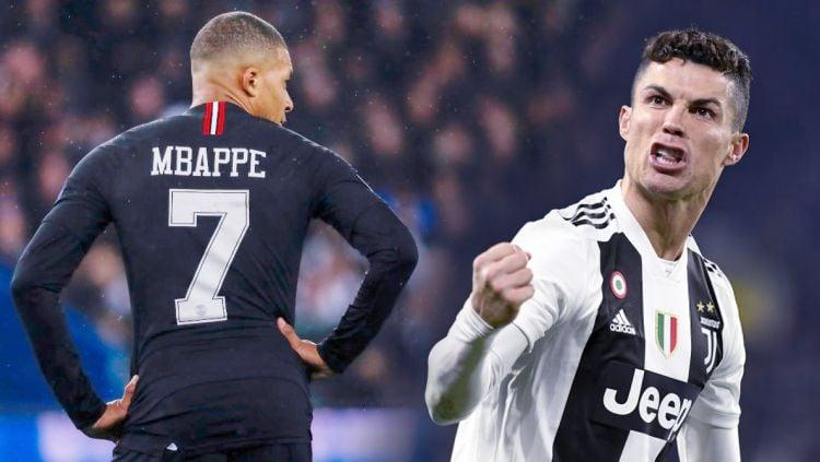 Siapkan Rp6,8 triliun rekrut Kylian Mbappe dari PSG, Juventus wajib korbankan Cristiano Ronaldo dulu di bursa transfer. Copyright: © Indosport.com