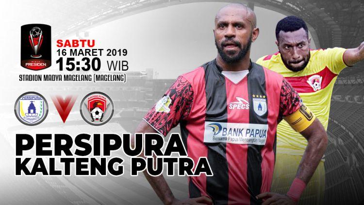 Pertandingan Persipura Jayapura vs Kalteng Putra. Copyright: © Indosport.com