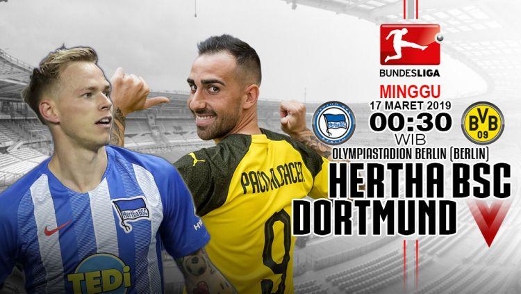Prediksi pertandingan Hertha BSC vs Dortmund Copyright: © INDOSPORT/Yooan Rizky Syahputra