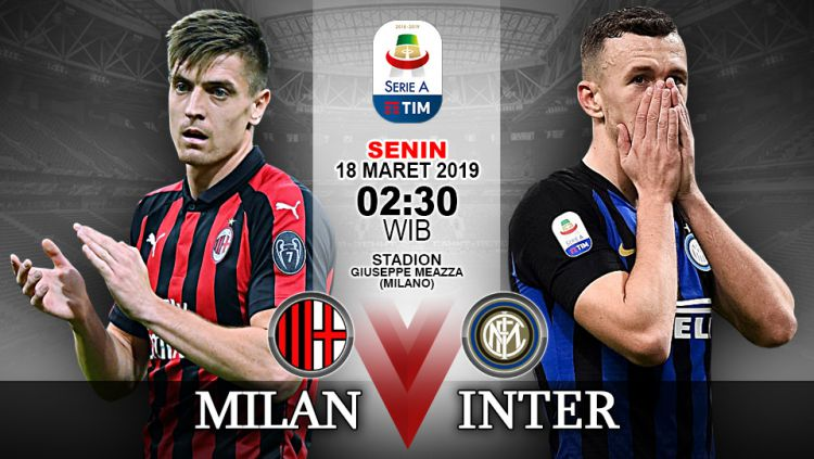 Pertandingan AC Milan vs Inter Milan. Copyright: © Indosport.com