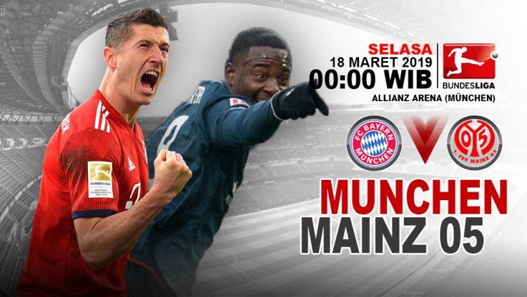 Prediksi pertandingan Bayern Munchen vs Mainz 05. Copyright: © INDOSPORT/Yooan Rizky Syahputra