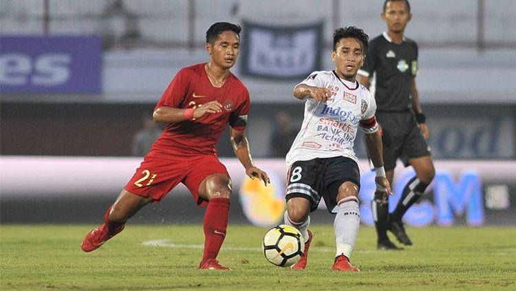 Pertandingan Timnas U23 vs Bali United pada Minggu(3/17/2019). Copyright: © Media PSSI