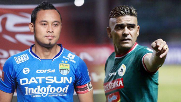 Atep Rizal dan Cristian Gonzales, pemain yang dibuang dari club karena sudah tua. Copyright: © Indosport.com