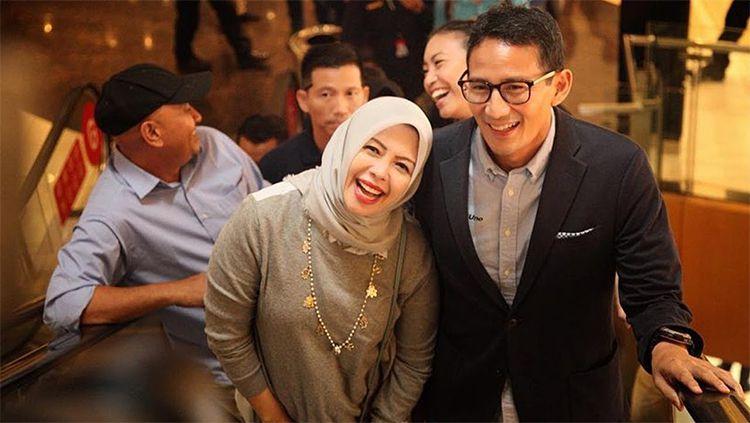 Sandiaga Uno dan Istrinya saat sedang bersama. Copyright: © Tribunnews.com