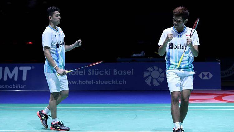 Pasangan Ganda Putra, Fajar Alfian/Muhammad Rian Ardianto dipastikan bakal terlibat di Chinese Taipei Open 2019. Copyright: © PBSI
