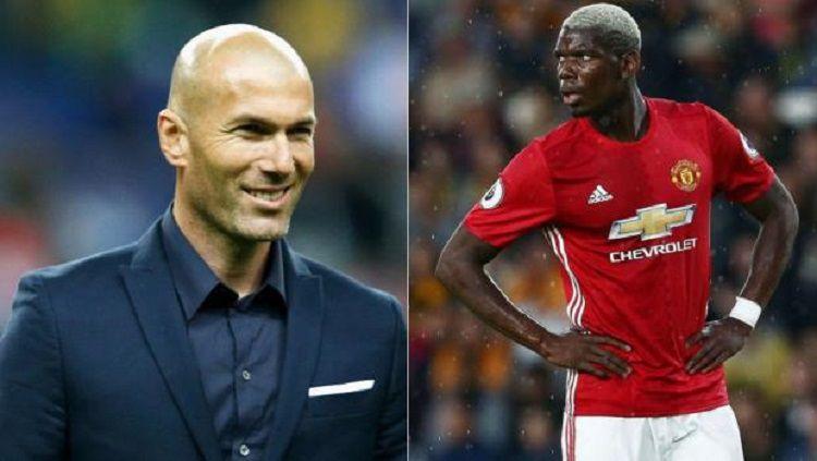 Zinedine Zidane dikabarkan tertarik untuk memboyong Paul Pogba ke Real Madrid. Copyright: © Siverbirdtv