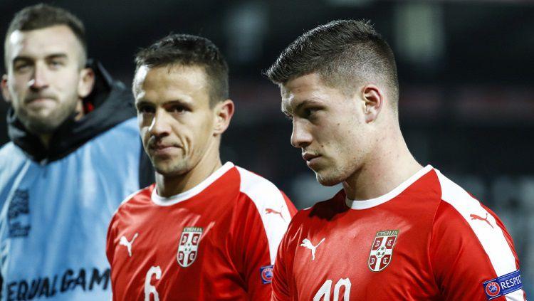 Luka Jovic bersama Timnas Serbia Copyright: © Srdjan Stevanovic/Getty Images