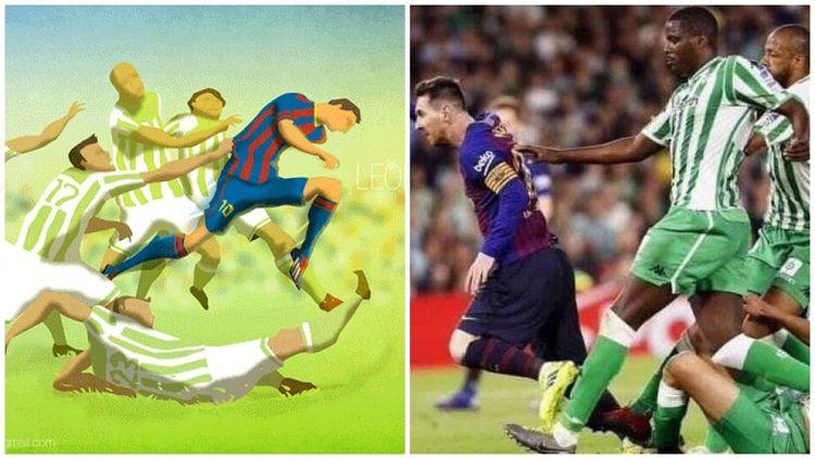 Lukisan Lionel Messi Jadi Kenyataan di Laga Barcelona vs Real Betis Copyright: © Marca
