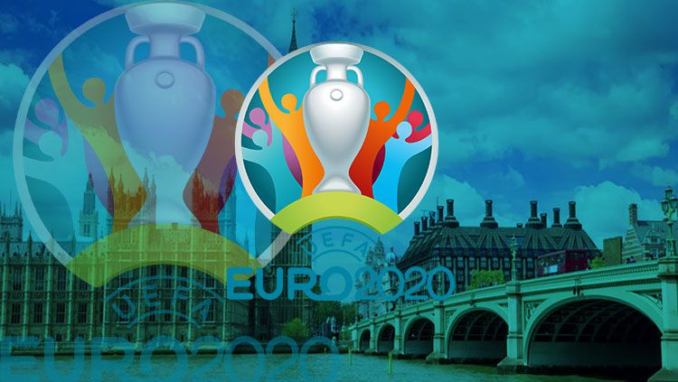 Logo Euro 2020. Copyright: © INDOSPORT/Yooan Rizky Syahputra