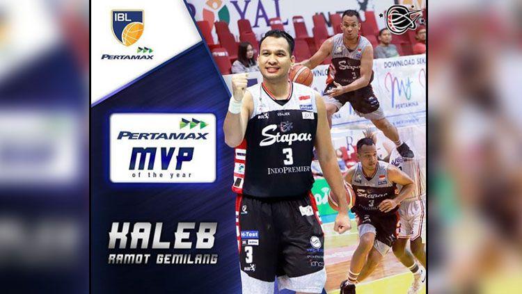 Kaleb Ramot Gemilang meraih gelar MVP IBL 2019. Copyright: © INSTAGRAM IBL INDONESIA