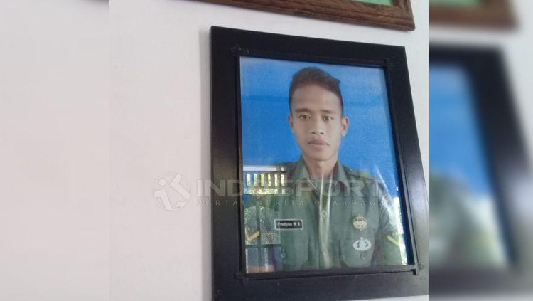 Bek Timnas U-23, Frediyan Wahyu Sugiyantoro di Desa Kertonatan, Kecamatan Kartasura, Kabupaten Sukoharjo. Copyright: © Ronald Seger Prabowo/INDOSPORT