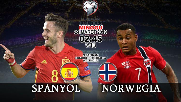 Prediksi pertandingan Kualifikasi Kejuaraan Eropa Spanyol vs Norwegia. Copyright: © INDOSPORT/Yooan Rizky Syahputra