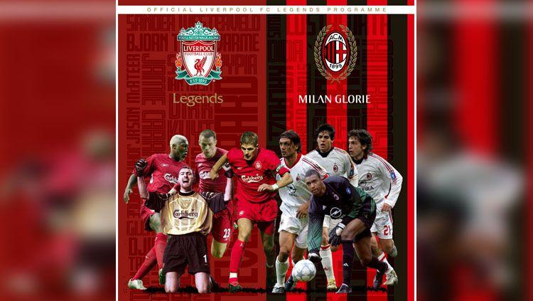 Laga amal akan tersaji antar legenda Liverpool vs AC Milan. Copyright: © Liverpool FC