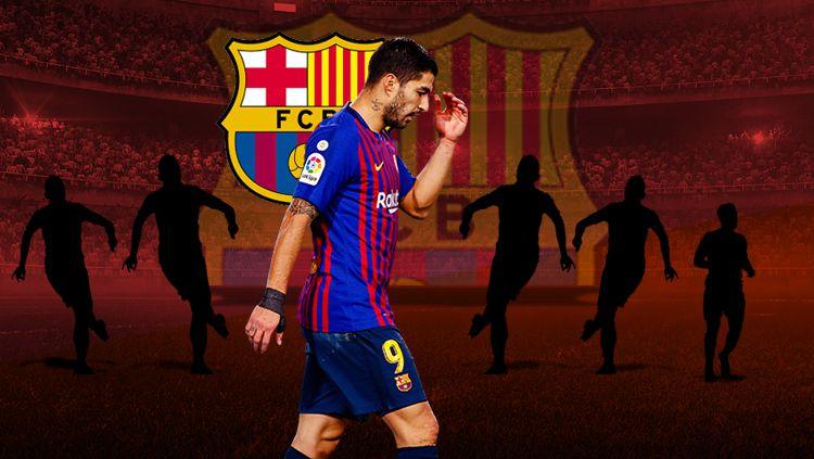 Posisi pemain sepak bola asal Uruguay, Luis Suarez, kabarnya tengah terancam di Barcelona karena satu hal ini. Copyright: © INDOSPORT