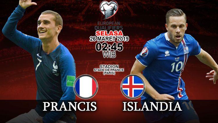Prediksi pertandingan kualifikasi kejuaraan eropa Prancis vs Islandia. Copyright: © INDOSPORT/Yooan Rizky Syahputra