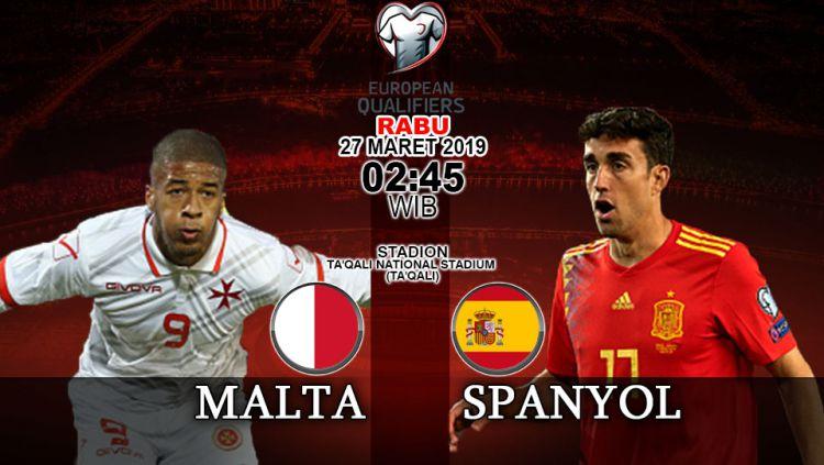 Prediski pertandingan kualifikasi kejuaraan eropa Malta vs Spanyol Copyright: © INDOSPORT/Yooan Rizky Syahputra