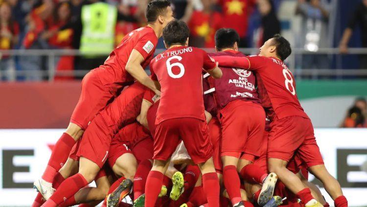Selebrasi Timnas U-23 Vietnam usai Menang 4-0 atas Thailand di Kualifikasi Piala Asia 2020 Copyright: © Fox Sport Asia