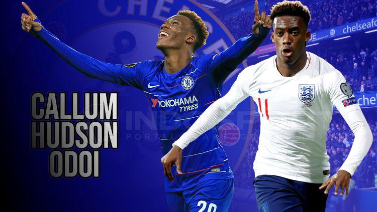 Callum-Hudson Odoi adalah pemain muda Chelsea yang berhasil mendapat kesempatan bermain di Timnas Inggris. Copyright: © INDOSPORT/Yooan Rizky Syahputra