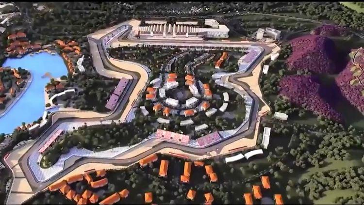 Desain Sirkuit Mandalika untuk MotoGP 2021. Copyright: © Twitter/MotoGP
