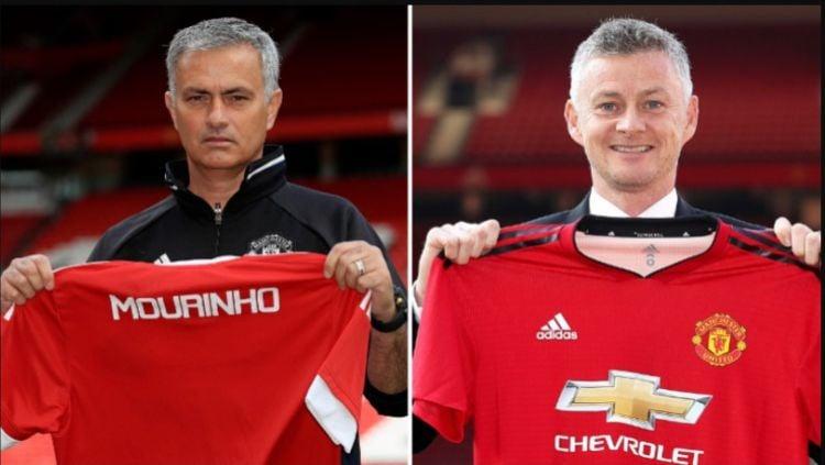 Perbedaan Ekspresi Jose Mourinho dan Ole Gunnar Solskjaer Saat Resmi Menjadi Pelatih Manchester United Copyright: © Sport Bible